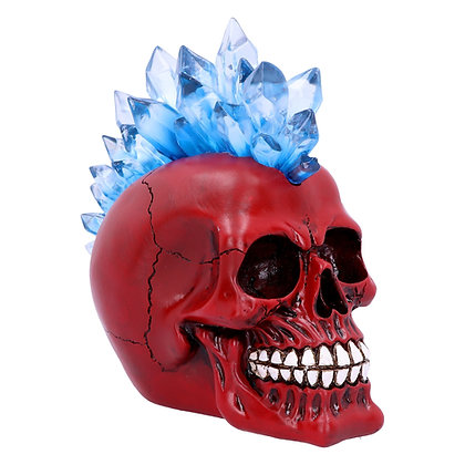 Red Crystal Hawk Skull Head Ornament 20.3cm