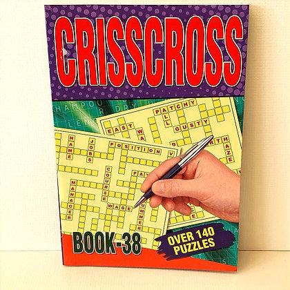 A5 Criss Cross Puzzle Book No. 38