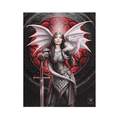 Valour Dragon & Warrior - Anne Stokes Canvas