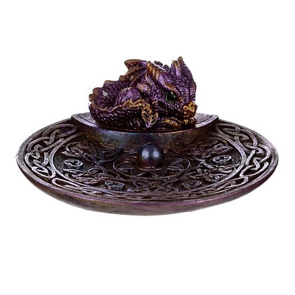 Baby Dragon Celtic Incense Stick Holder Dish
