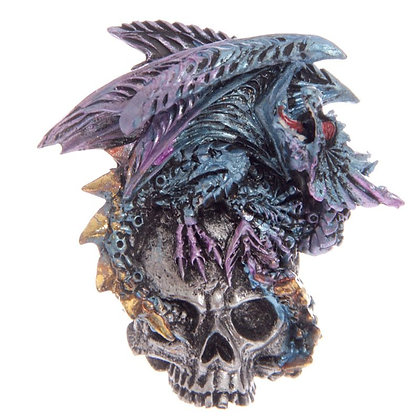 Blue Dark Legends Silver Skull Dragon Magnet