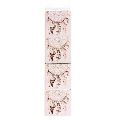 Dreamcatcher Coasters - Set of 4 (Pink)