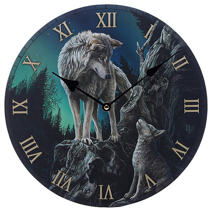 Guidance Wolf - Lisa Parker Clock