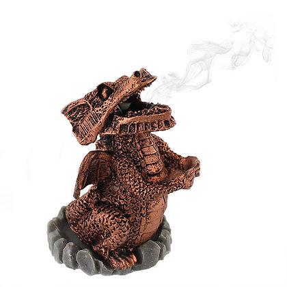 Red Dragon Incense Cone Holder Ornament