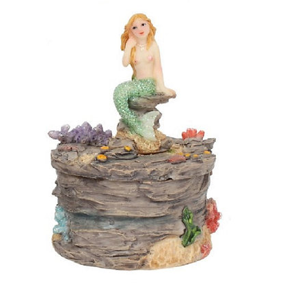 Green Mermaid Trinket Box