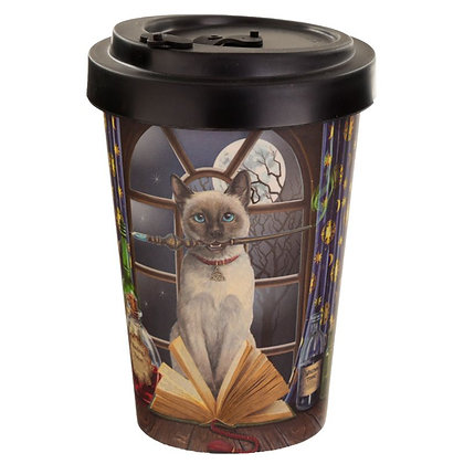 Hocus Pocus Cat Reusable Travel Mug - Lisa Parker