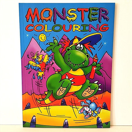 A4 Monster Colouring Book - Blue