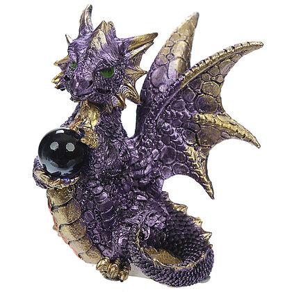 Crystal Ball Dragon Figure