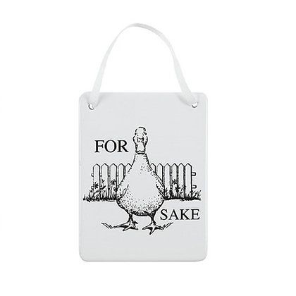 Animal Ceramic Hanging Wall Plaque (Duck)