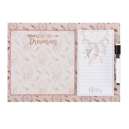 Pink Dreamcatcher Magnetic Whiteboard Set