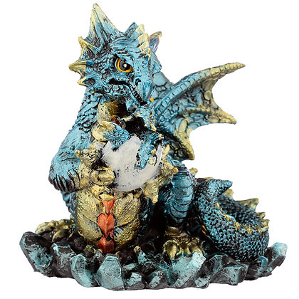 Mother and Hatching Baby Dragon Figure
