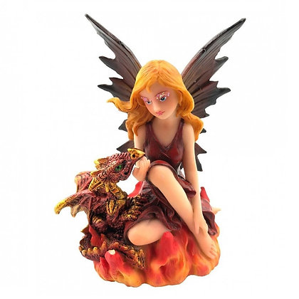 Companions of the Embers Fairy and Dragon Ornament 9.8cm