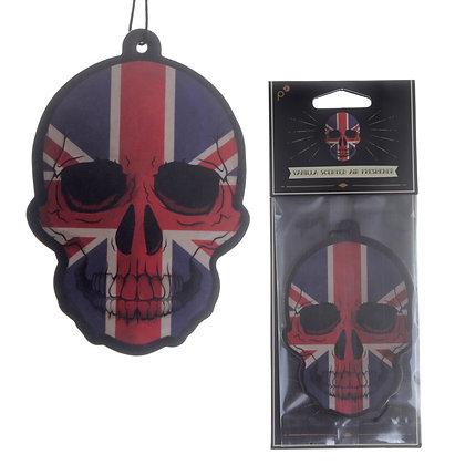 Union Jack Flag Skull Air Freshener