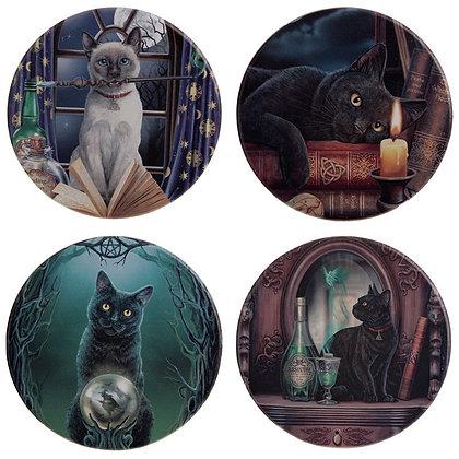 Magical Cats Set of 4 Coasters - Lisa Parker