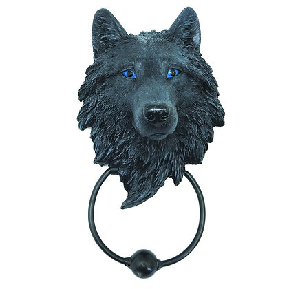 Dark Guardian Wolf Door Knocker 22.8cm