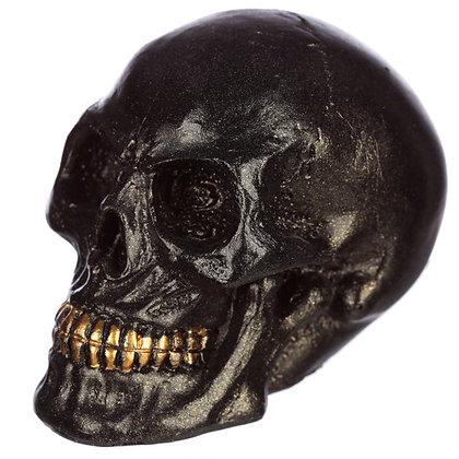Black Iridescent Skull Head Ornament