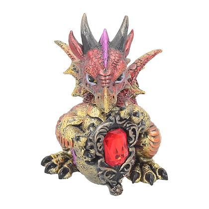 Ruby Dragonling Ornament 12cm