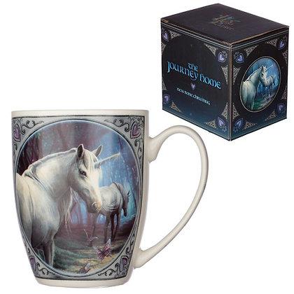 Journey Home Unicorn Porcelain Mug (Lisa Parker)