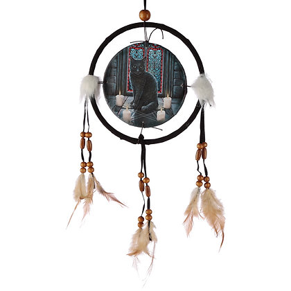 Sacred Circle Cat Lisa Parker Dreamcatcher - 16cm