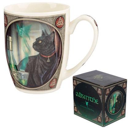 Absinthe Cat Bone China Mug (Lisa Parker)