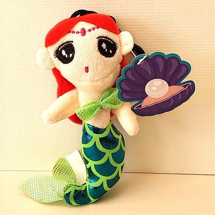 Plush Mermaid Keyring with Sounds