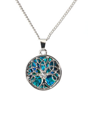 Celtic Tree of Life Paua Shell Pendant