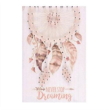 Dreamcatcher String Art Wall Plaque (Pink)