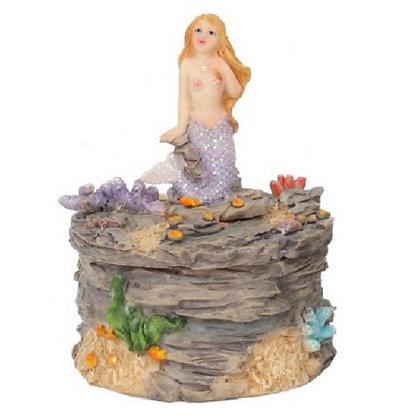 Purple Mermaid Trinket Box