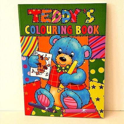 A4 Teddy's Colouring Book - Green