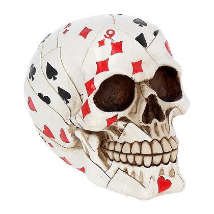 Dead Man's Hand Skull Head Ornament 15cm