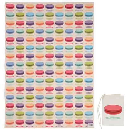 Macaroon Quality Wrapping Paper and Gift Tag