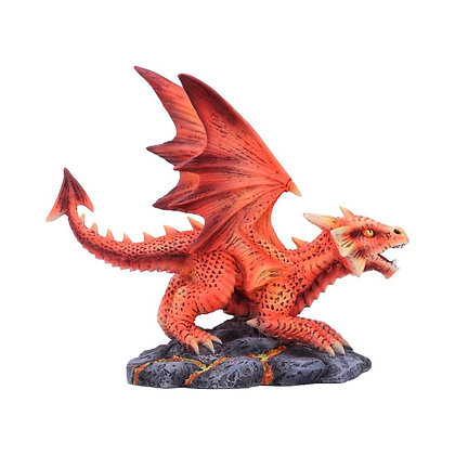 Age of Dragons Small Fire Dragon Figurine 13cm - Anne Stokes