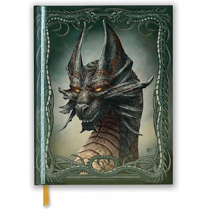 Black Dragon Embossed Blank Sketch Book