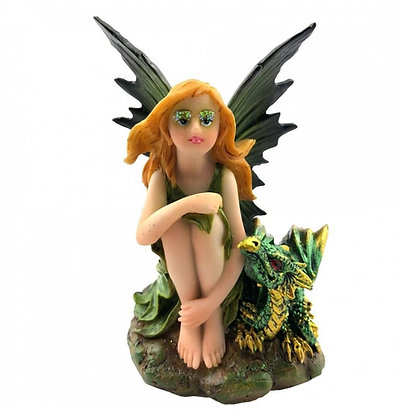 Companions of the Forest Fairy and Dragon Ornament 9.8cm