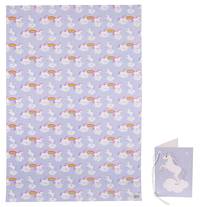Unicorn Quality Wrapping Paper and Gift Tag
