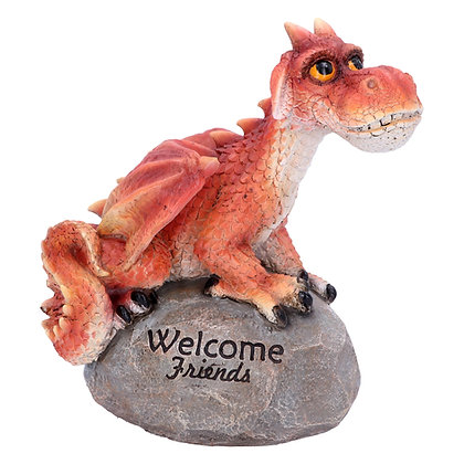 Welcome Friends Red Dragon Ornament