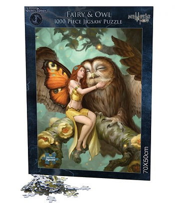 Fairy and Owl Jigsaw 1000pcs - James Ryman