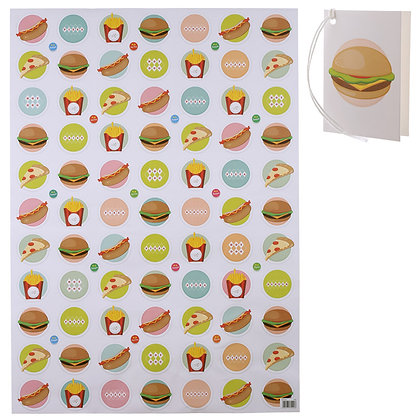 Fast Food Quality Wrapping Paper and Gift Tag