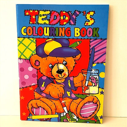 A4 Teddy's Colouring Book - Blue