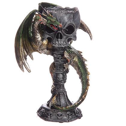 Skull and Dragon Tea Light Holder Goblet