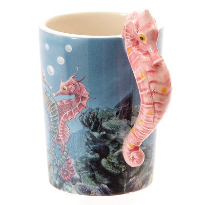Seahorse Handle Ceramic Mug (Lisa Parker)