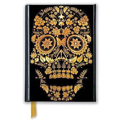 Gold Sugar Skull Embossed Pocket Book