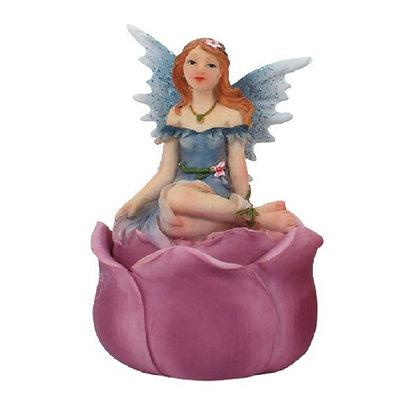 Blue Fairy Trinket Box Ornament 7.5cm