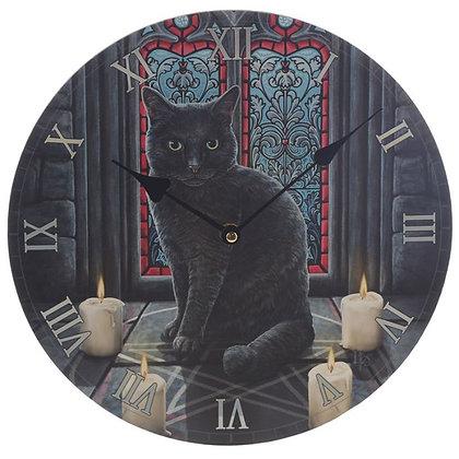Sacred Circle Cat - Lisa Parker Clock