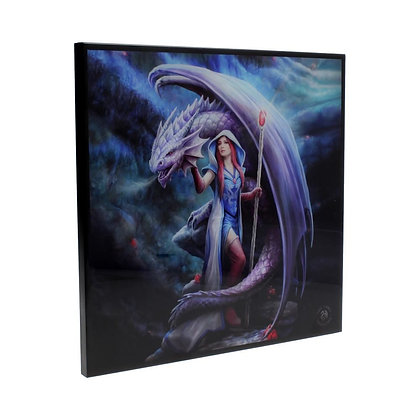 Dragon Mage Crystal Clear 25cm Picture - Anne Stokes