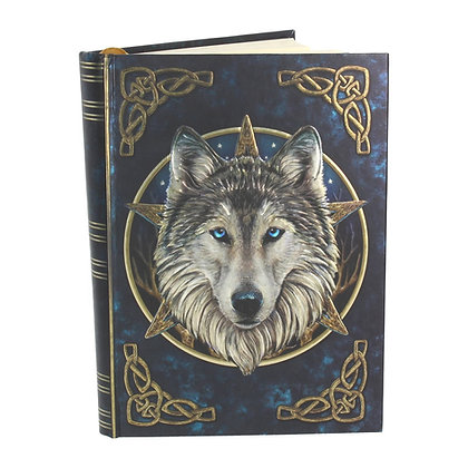 The Wild One Wolf Embossed Journal - 17cm (Lisa Parker)