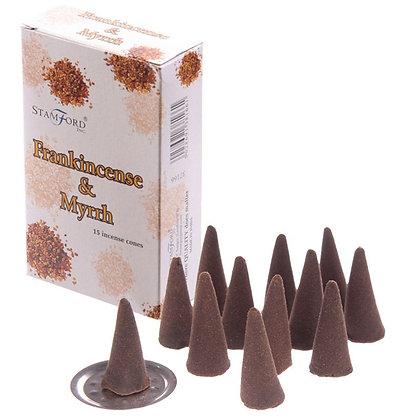 15 Stamford Incense Cones - Frankincense and Myrrh