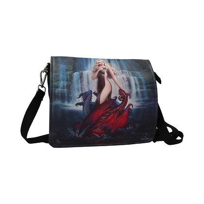 Dragon Bathers Embossed Shoulder Bag - James Ryman