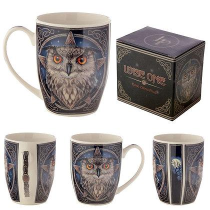 The Wise One Owl Bone China Mug (Lisa parker)
