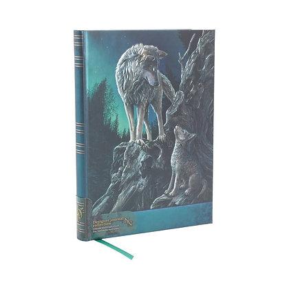 Guidance Wolf Embossed Journal - 17cm (Lisa Parker)